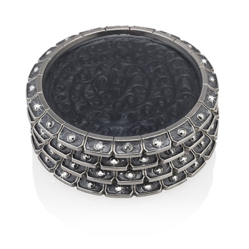 Jay Strongwater Bentley Jeweled Edge Coaster - Special Order