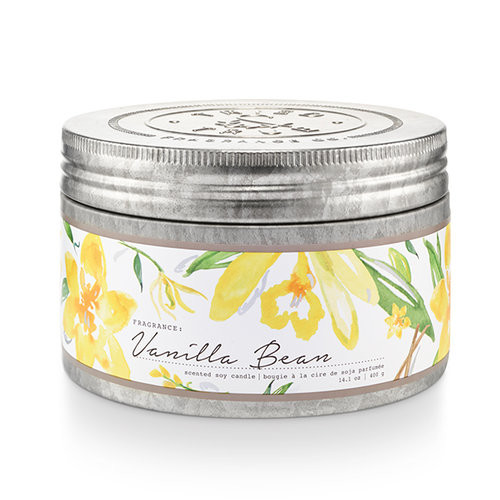 Vanilla Bean 14.1 oz. Large Tin Candle by Tried & True