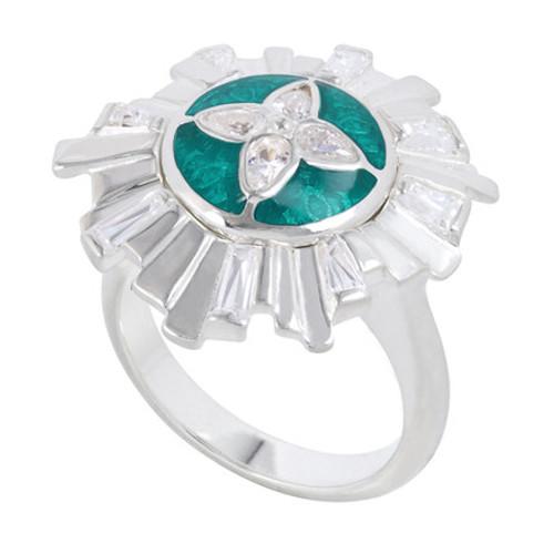 Size 6 Art Deco Ring - KR043-6 Kameleon Jewelry
