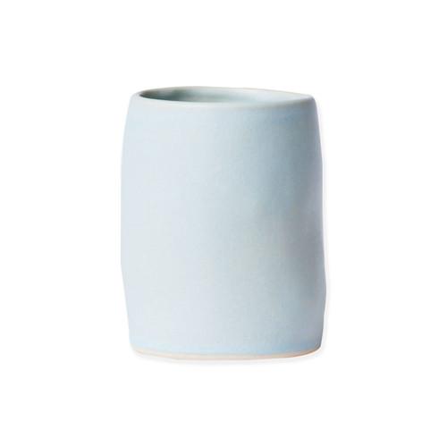 Vietri Bath Essentials Blue Matte Round Vase - Special Order