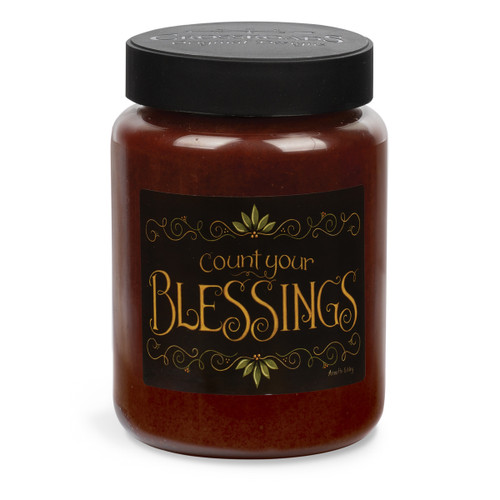 Count Your Blessings Artwork Cinnamon Sticks 26 oz. Crossroads Candle