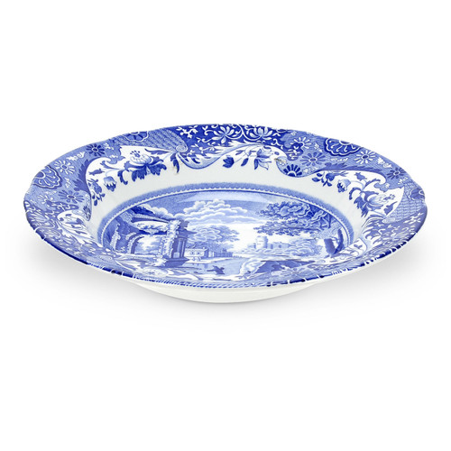 Blue Italian Set of 4 Soup Plates by Spode - Special Order