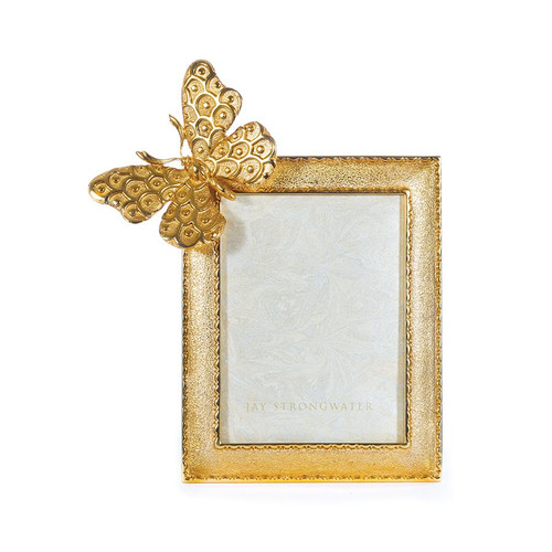 """Jay Strongwater Juno Butterfly 3"""" x 4"""" Frame - Special Order"""