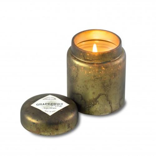 Sage Grapefruit Pine 9 oz. Mountain Fire Glass Jar Candle by Himalayan Candles