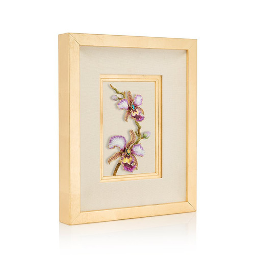 Jay Strongwater Julia Orchid Wall Art - Special Order