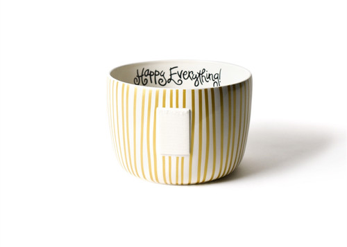 Gold Stripe Big Bowl by Happy Everything!