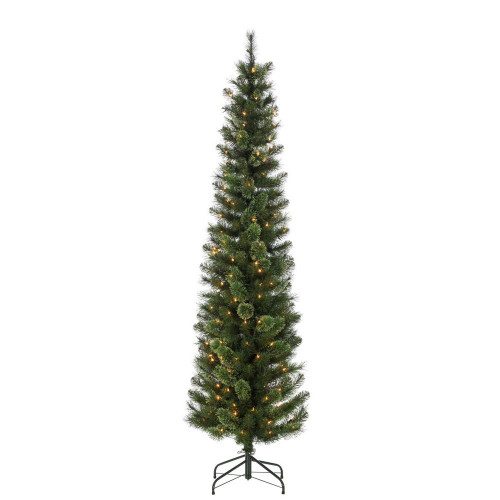 Hard / Mixed Needle Cashmere 7.5 ft. Pencil Tree by Sterling Tree