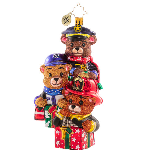 Beary Best Rescuers Ornament by Christopher Radko -