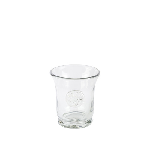 Medallion Grey Hammered Glass DOF Tumbler - GG Collection