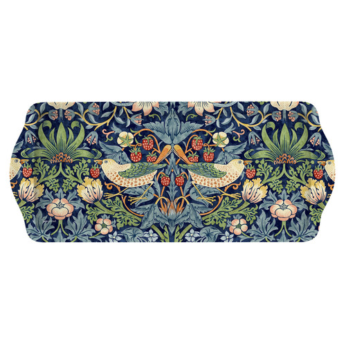 William Morris Strawberry Thief Blue Sandwich Tray by Pimpernel - Special Order