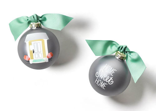 Home Sweet Home Glass Ornament by Happy Everything!