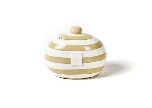 Neutral Stripe Mini Cookie Jar by Happy Everything!