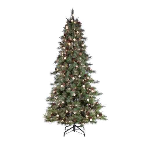 Hard / Mixed Needle 7.5 ft. Arcadia Fir with Pine Cones by Sterling Tree