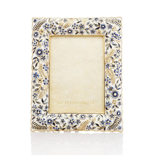 """Jay Strongwater Florence Ruffle 5"""" x 7"""" Frame - Special Order"""