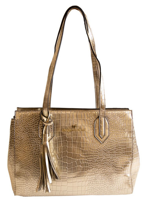 Gold Leather Purse by Simply Southern