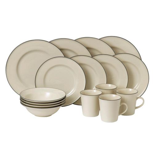 Gordon Ramsay Union Street Cafe Cream 16-Piece Set by Royal Doulton - Special Order