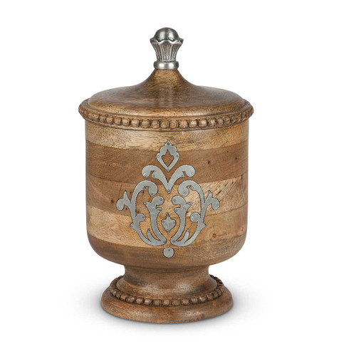 Heritage Wood & Metal Small Canister - GG Collection