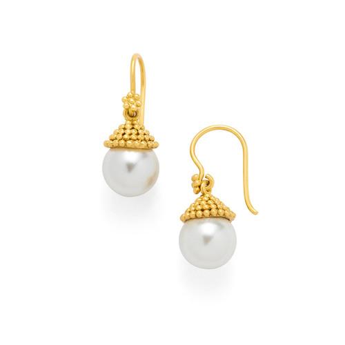Julie Vos Florentine Earring - Gold - Pearl