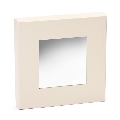 """Embellish Your Story Closeouts: Cream Magnetic Mirror - 10""""sq."""