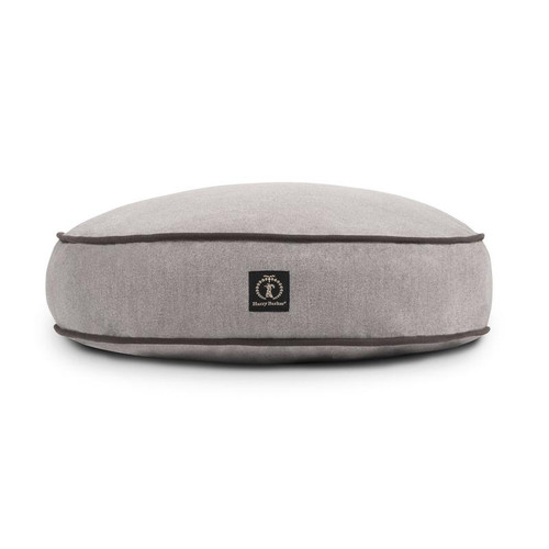 Small Grey Solid Round Dog Bed Cover by Harry Barker - Special Order