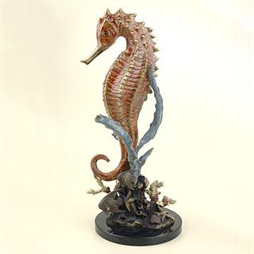 Large Seahorse with Coral - SPI Home (Special Order)