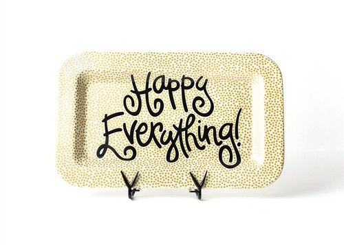 Gold Small Dot Happy Everything Mini Rectangle Platter by Happy Everything!