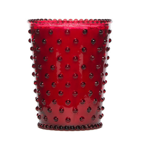 Simpatico Reindeer Hobnail Glass Candles by K. Hall Studio