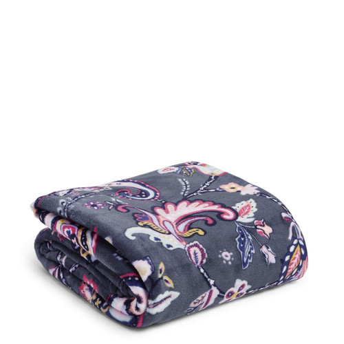 Plush Throw Blanket Felicity Paisley Fleece by Vera Bradley