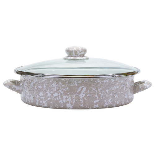 Taupe Large Saute Pan by Golden Rabbit - Special Order