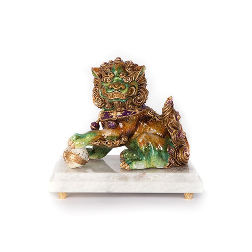 Jay Strongwater Shi Foo Dog Figurine - Special Order