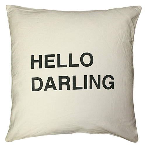 """24"""" X 24"""" Hello Darling Pillow by Sugarboo Designs - Special Order"""