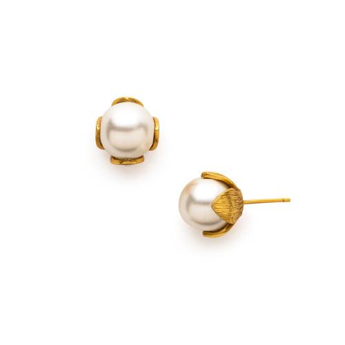 Julie Vos Penelope Stud Earring -Pearl