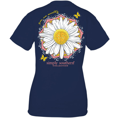 Small Worthy Midnight Short Sleeve Tee by Simply Southern