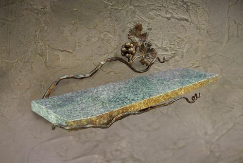 Vineyard Shelf With Stone by Bella Toscana