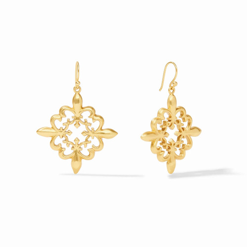 Julie Vos Fleur de Lis Lace Earring - Gold