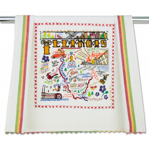 Illinois Dish Towel by Catstudio