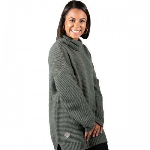 Small Dark Gray Turtleneck Sweater by Simply Southern