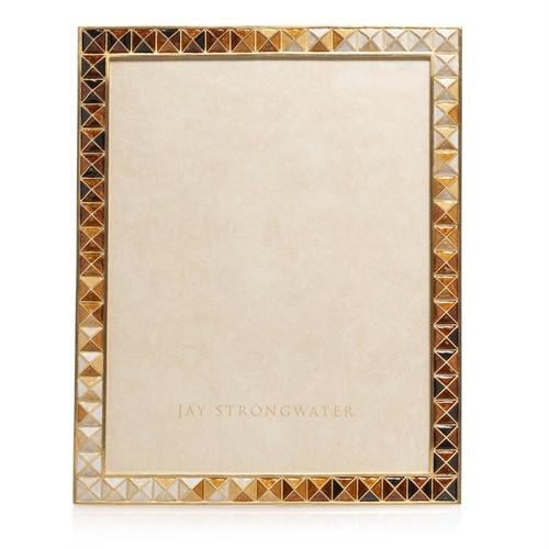 Jay Strongwater Vertex Pyramid 8 x 10 Frame in Topaz - Special Order