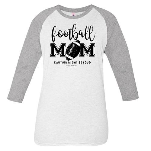 XXLarge Football Mom Simply Faithful Tee by Simply Southern