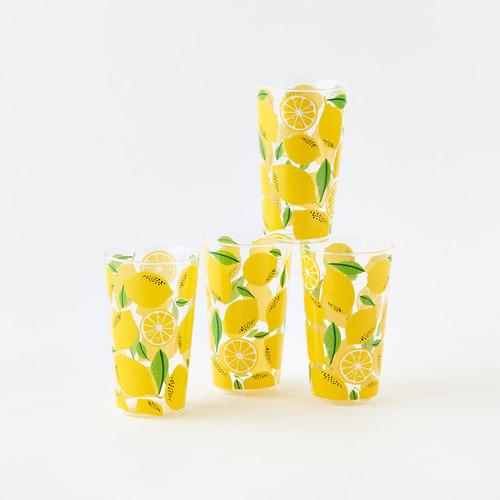 "Lemon Juice Glass 6"" by One Hundred 80 Degrees - Set of 4"