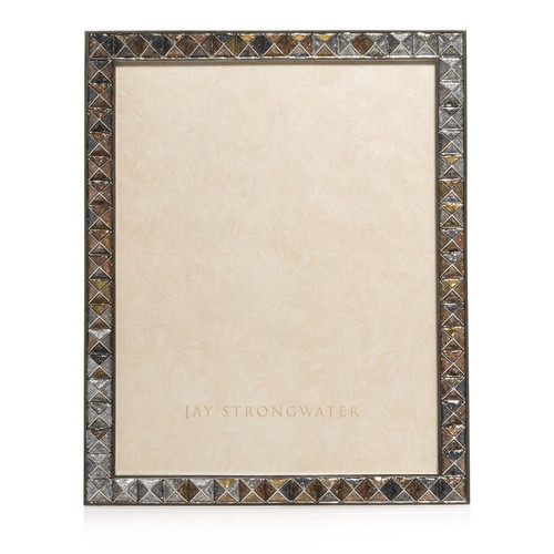 Jay Strongwater Vertex Pyramid 8 x 10 Frame in Mixed Metal - Special Order