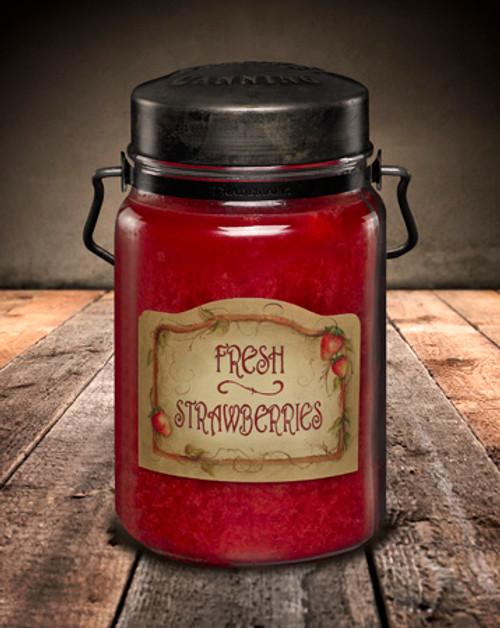 Fresh Strawberries 26 oz. McCall's Classic Jar Candle