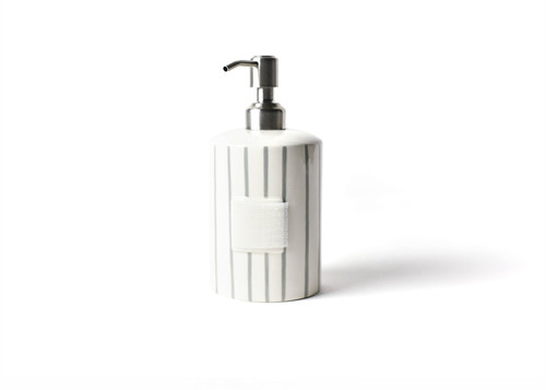 Stone Skinny Stripe Mini Cylinder Soap Pump by Happy Everything! - Special Order