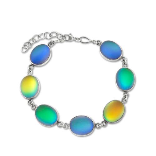 Seven Oval Stones Bracelet by LeightWorks Wearable Fine Art