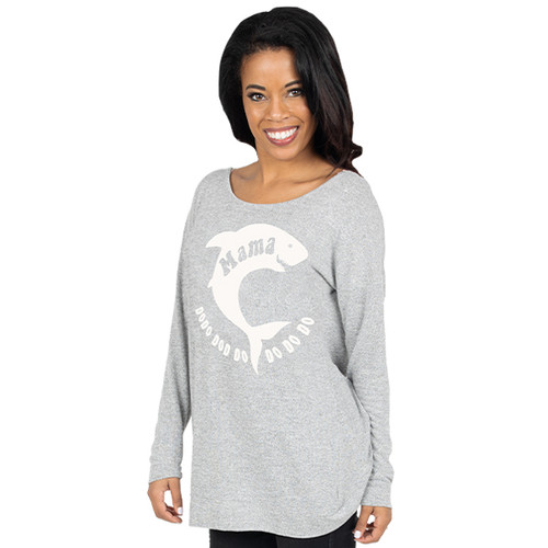 Large Shark Mama Open Back Top by Simply Southern