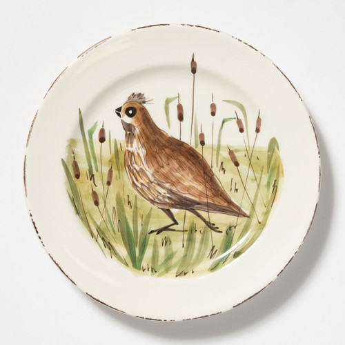 Vietri Wildlife Quail Dinner Plate - Special Order
