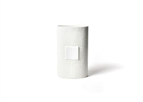 Stone Small Dot Big Oval Vase by Happy Everything!
