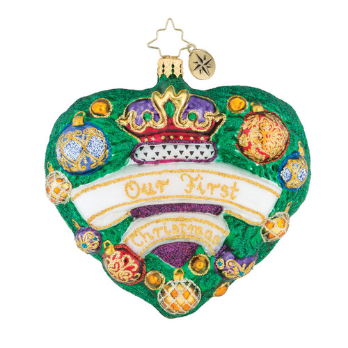 Evergreen Is My Heart Ornament by Christopher Radko