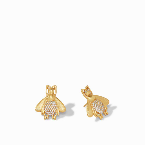 Julie Vos Bee Luxe Earrings - Gold Cz