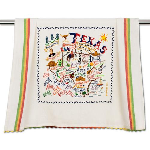 Texas Dish Towel by Catstudio